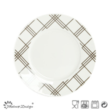 Porcelaine blanche de 7,5 pouces avec plaque de desserts décoratif