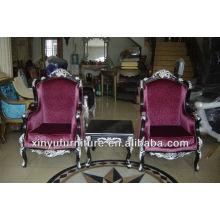Ensembles de chaises longues et de table en bois massif XYD124