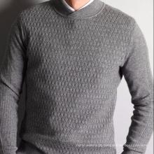 Caxemira de algodão P18B05TR camisola de malha para homens