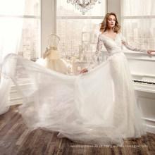 LS0171 V-neck sexy ver através do espartilho transparente alibaba meia luva vestido de noiva vestido de noiva vestido de noiva real