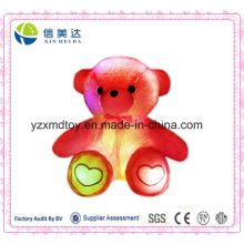 Plush Eletrônico LED Indução Loving Coração Urso Toy (XDT-035S)