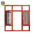 Thermlly break aluminium powder coated residential used swing opening window double glazed windows with blinds