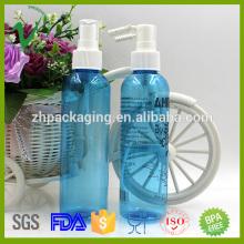 PET cuidado de la piel personal ronda botellas vacías de plástico transparente para el perfume