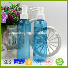 PET personal skin care round empty plastic transparent bottles for perfume