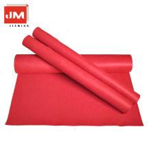 Alfombra de lana de tela alfombra roja fieltro de poliéster