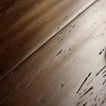 Revêtement de sol en bambou tissé à la main