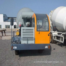 2m3 self-feeding function flow type concrete mixer truck