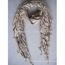 Квадратный печатный платок с рисунком зебры вискозы
