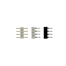 Luz de tira pino adaptador RGB LED Strip conector de 10mm