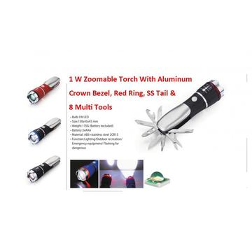 9 In 1 Led Flashlight With Tools