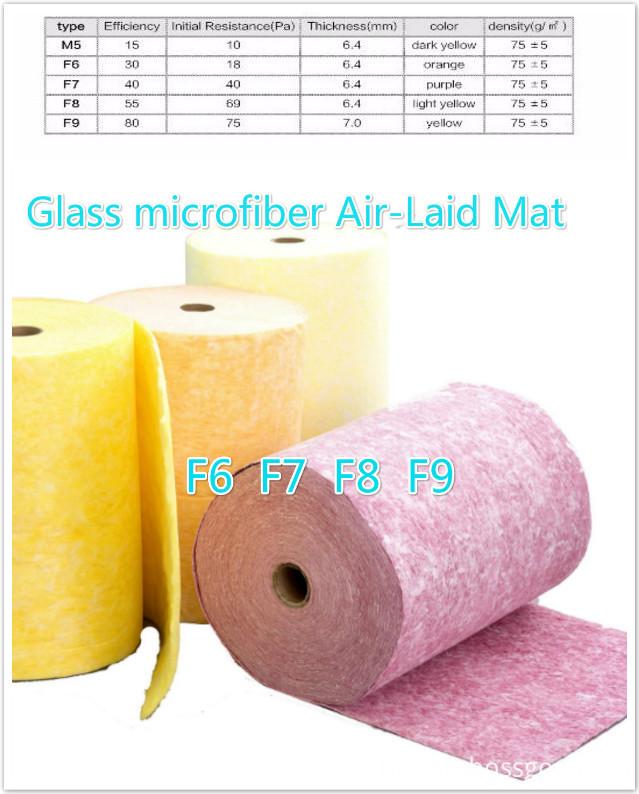 Glass microfiber Air-Laid Mat-F9