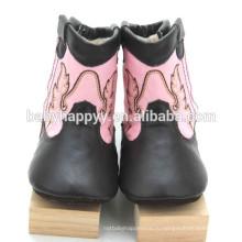 Лучшие продажи Симпатичные Необычные девушки prewalker кожа детская обувь зима