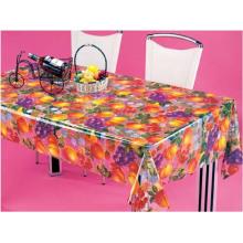 PVC Printed Transparent Tablecloth (TT0227)