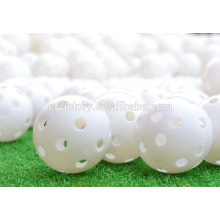 Salable Yellow Airflow Hollow Perforated Plastic Golf Tennis Practice Balls