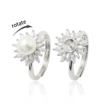 Ready to Ship High End Rotate Freely Ring Fidget Anxiety Ring for Women