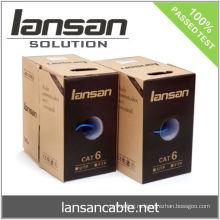 UTP CAT 6 250Mhz кабель, 4PR 24AWG твердая медь, PVC / LSOH, ETL / UL / ROHS, LANSAN