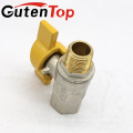 GutenTop High Quality Butterfly Male to Female Brass ball valve nickel plated