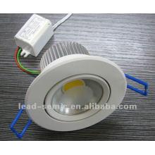 Diamètre 100mm lumière blanche 5W mouvement de capteur de lumière de plafond de salle de bains