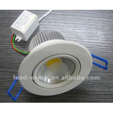 Diâmetro 100mm luz branca 5W banheiro teto luz sensor movimento
