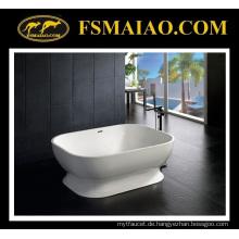 Schöne Kurve Solid Surface Badewanne freistehende Weiß (BS-8613)