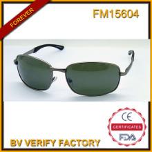 FM15604 Alta calidad nuevo diseño acero inoxidable gafas de sol para hombre europeo