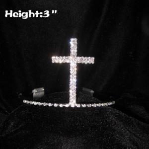 Crystal Latin Cross Shaped Crowns Tiaras
