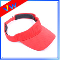 Custom Red Breathable Visor Cap