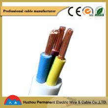 Conductor de cobre flexible cable eléctrico aislado de PVC y alambre