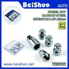 4 + 1PCS Spline Wheel Lug Nut avec 1 clé