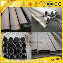 Tube en aluminium anodisé de ruban de Matt avec la certification ISO9001