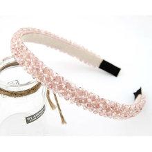 Últimas Handmade Cristal frisada Hairband cabelo acessórios para meninas HB16
