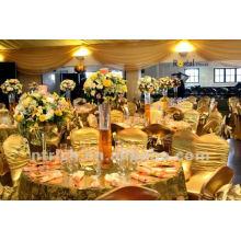 luxo!!! Bronzeando a tampa da cadeira ouro para casamentos, tampa da cadeira do lycra, brilhante