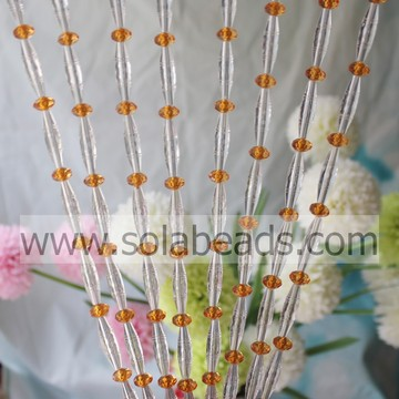 Curtain 10MM&30MM Wired Plastic Bead Strands Garland