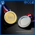 Medalha de inserção em branco de ouro, prata, metal de bronze personalizada