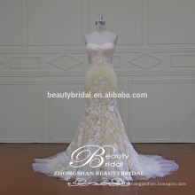 Special Tailor-made Bridal Dress Gorgeous Tull & Imitated Silk Fabric Wedding Gown with Lace