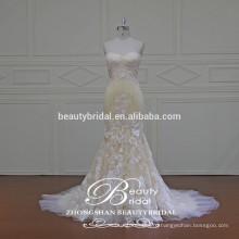 Специальный сделанный на заказ свадебное платье великолепная Талл & подражали шелковой ткани свадебное платье с кружевом