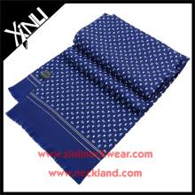 Fournisseur chinois imprimé à la main Oblong Paisley Twill Pure soie écharpe été