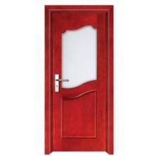 porte en bois prix raisonnable avec verre design