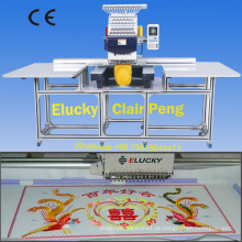 grandes vendas da máquina do bordado da área de funcionamento para o bordado liso do vestuário do tampão