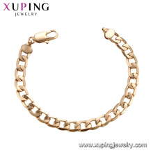 75189 Xuping guangzhou fashion imitation jewelry simple silk thread gold chains bracelet