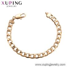 75189 Xuping guangzhou moda imitação de jóias simples fio de seda de ouro cadeias de pulseira