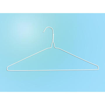"""16""""13g White Powder Dry Cleaner Wire Suit Hanger"""