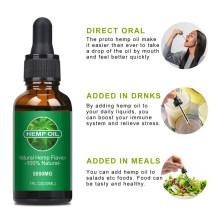 OEM 100% Natural Herbal Flavour Organic Hemp Seed Oil Direct Oral Safe Reparing Moisturizing Brightening