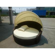 CF791 loisirs vente chaude jardin meubles rotin lit de bronzage (CF791)