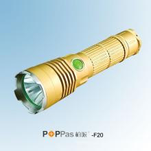 Золотой 600 мл CREE Xml U2 1X 18650 аккумулятор портативный и лагерь светодиодный фонарик Poppas-F20