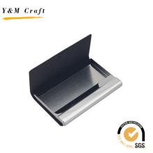 Portatarjetas de nombre de metal con cuero de alta calidad para los negocios