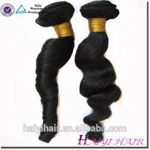 Оптовая Перуанский волос 100% необработанные волосы утка свободная волна пучок человеческих волос