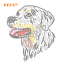 Crystal Motif Pattern Litter Dog Rhinestone Transfer