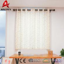 Cortinas de ventana de lino impresas hoja de alta calidad de la hoja