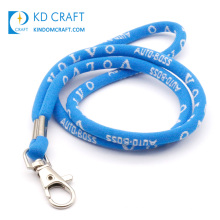 Free sample no minimum bulk cheap custom eco friendly thick rope nylon cord neck strap personalized round lanyard for sale